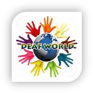 Deaf Deaf World logo 2018