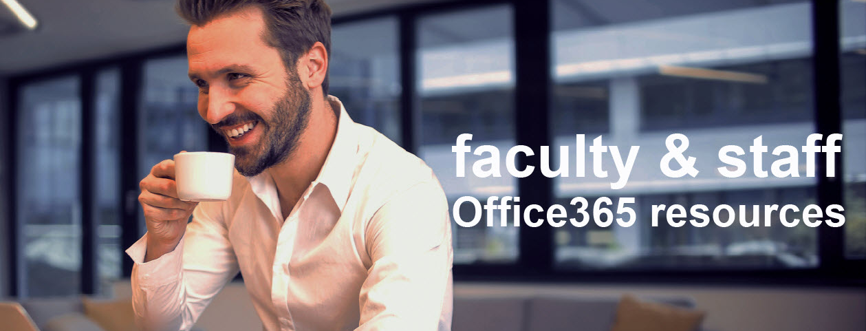 Cover Image Faculty Office 365 Resources