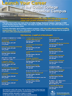 Thumbnail of Collin College Technical Campus Program Sheet
