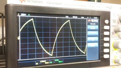 Sawtooth sine wave on oscillosope
