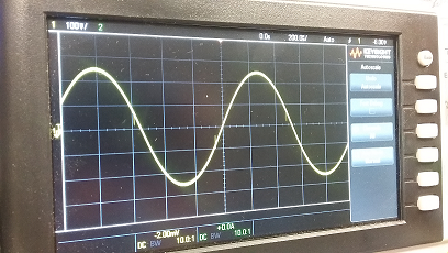 Normal sine wave on oscillosope