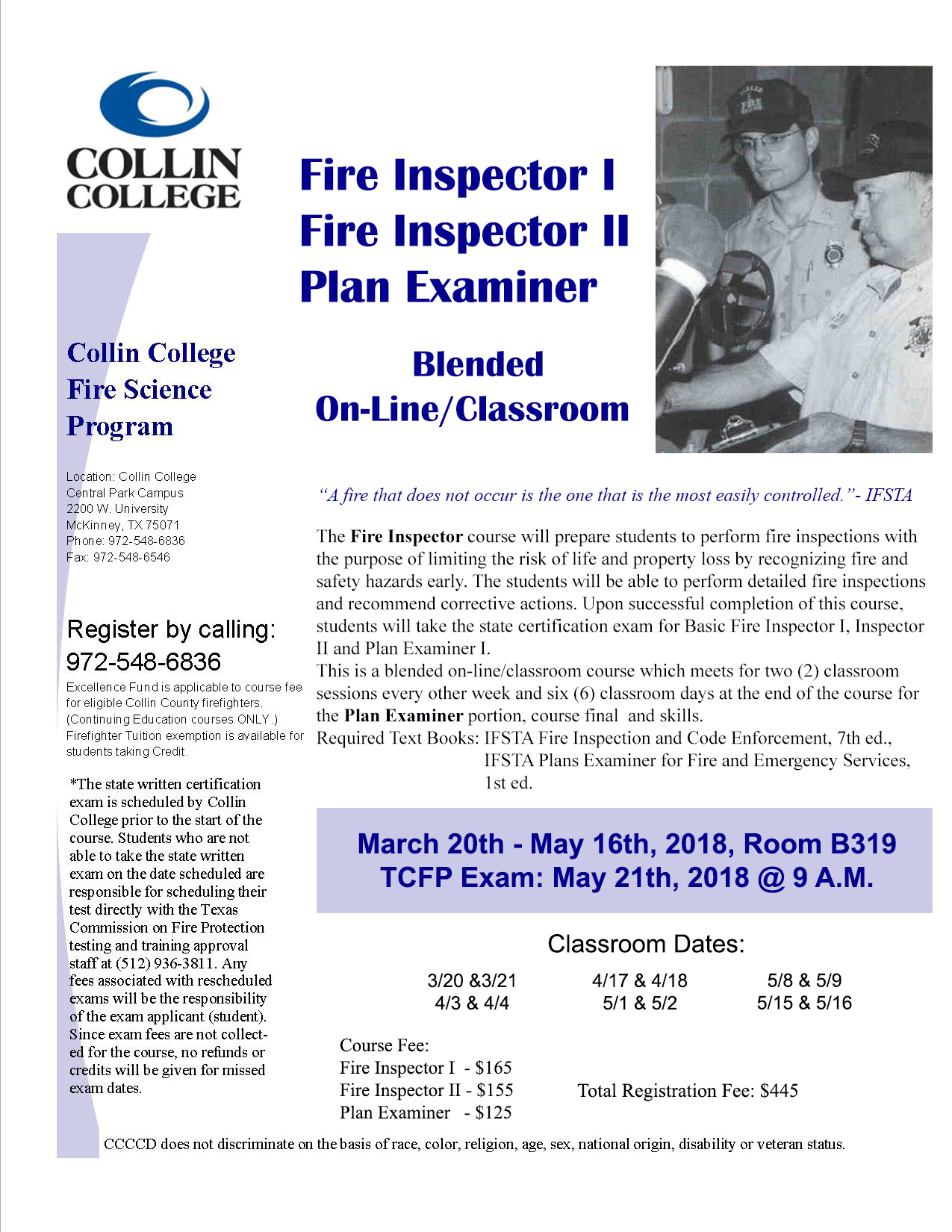 Fire Science Department Collin College