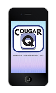 iPhone with CougarQ logo