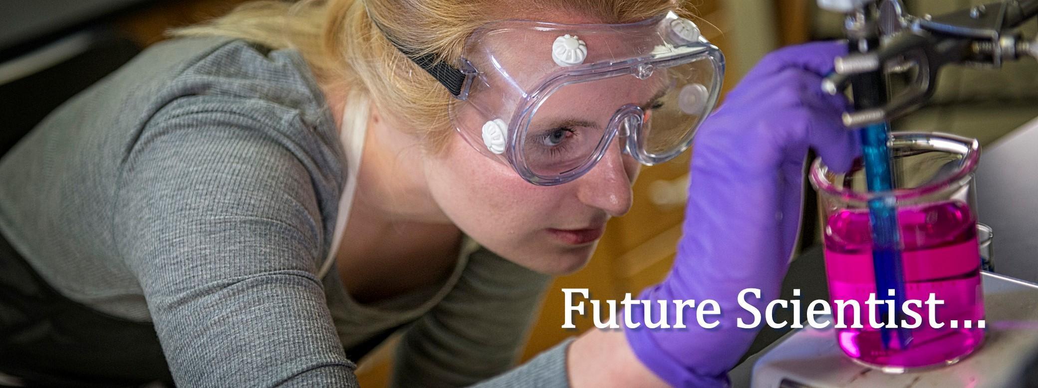 Future scientist . . . .