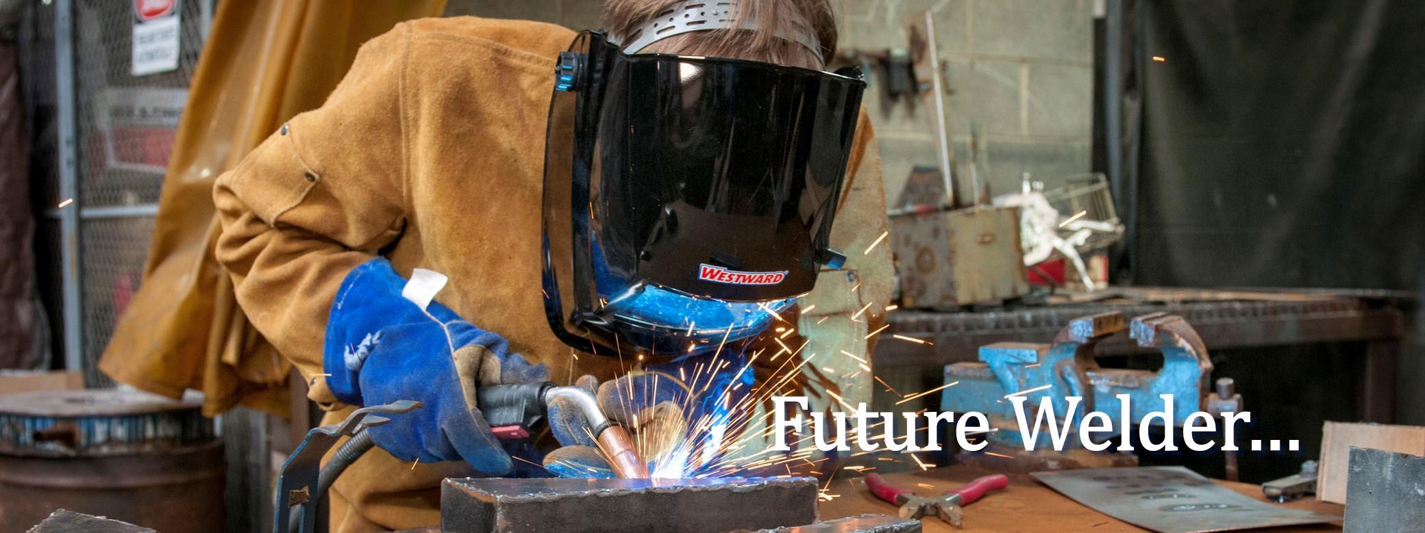 Future welder . . .