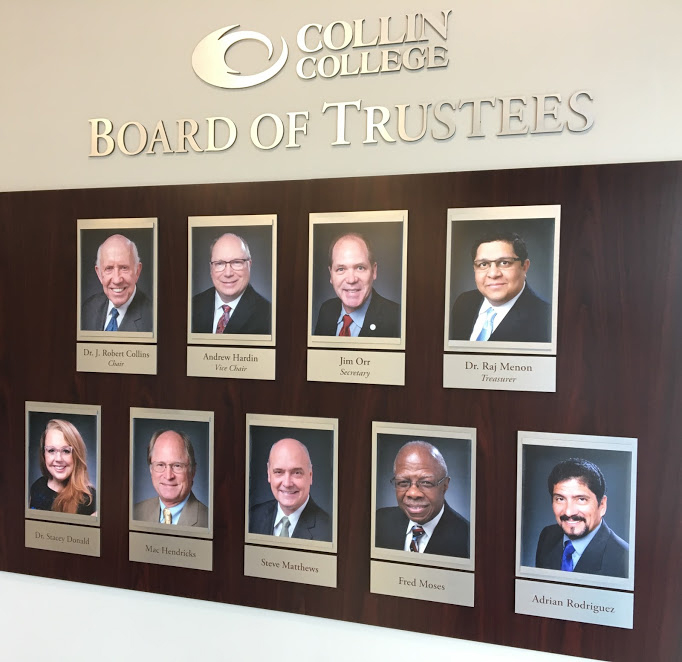 2017 - 2018 Board of Trustees Plaque