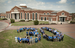 Students, Faculty, and Staff Form a Giant 30 to Celebrate the 30th Anniversary of the Founding of Collin College