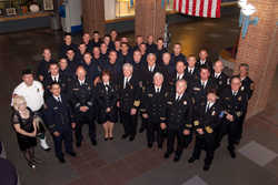 Class 50 and FacultyCollin College�s Fire Academy graduated its 50th class (pictured) May 19. More than 1,000 first responders have gotten their start in the program over the years.