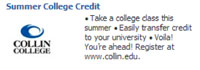 Summer College Credit Facebook Ad
