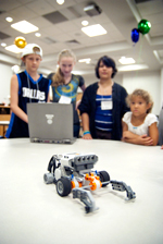 Local students try their hand at robotics during a past Collin College Summer Robotics Camp.