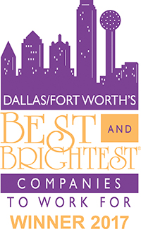 Logo for Dallas/Fort Worth's Best & Brightest Companies To Work For Winner 2017