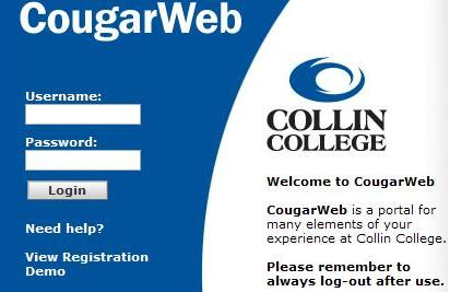 CougarWeb Screen