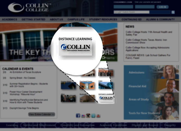 What are some common online classes at Collin College?