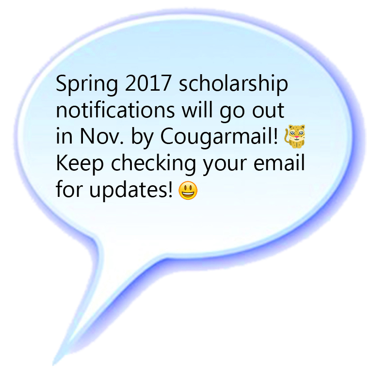 Cougarmail text bubble