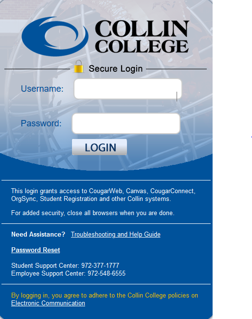 CougarWeb Login