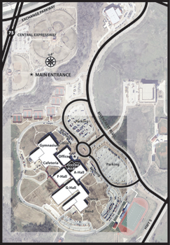Allen Center campus map