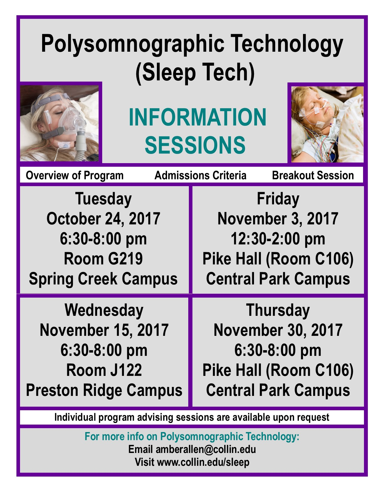 Fall Information Session Poster